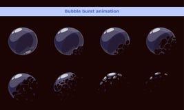 Рамки пузыря шаржа игры для анимации Стоковое Изображение RF