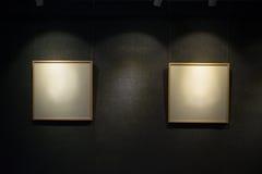 2 рамки пустых дисплея Стоковое Изображение