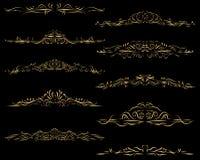 Рамки рассекателя текста золота Бесплатная Иллюстрация