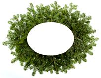 Рамки рождества зеленые изолированные на белой предпосылке Стоковые Изображения