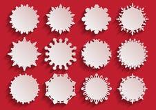 Рамки снежинки белой бумаги 3d Стоковые Изображения