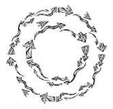 Рамки стрелок вектора круглые Стоковые Изображения