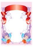 Рамки с ангелами Стоковые Изображения RF