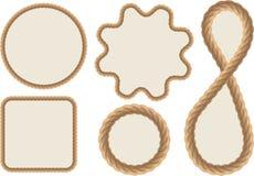 Рамки сделанные веревочек Стоковое Фото