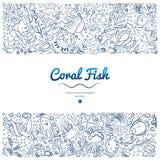 Рамки с кораллом fish-01 бесплатная иллюстрация