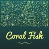 Рамки с кораллом fish-05 бесплатная иллюстрация