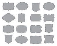 рамки установили просто Собрание форм ярлыка также вектор иллюстрации притяжки corel стоковое фото rf