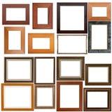 рамки установили деревянной Стоковые Фото