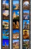 Рамки фильма - перемещение Испании отображает (мои фото) Стоковые Изображения