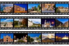 Рамки фильма - перемещение Испании отображает (мои фото) Стоковые Фото