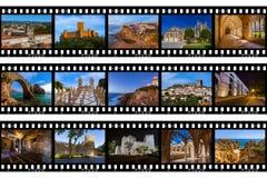 Рамки фильма - перемещение Португалии отображает мои фото Стоковое Фото
