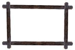 Рамки фото дизайна деревянные с ветвями цветка бугинвилии Стоковые Фотографии RF