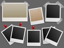 Рамки фото как винтажный комплект вектора фото иллюстрация штока