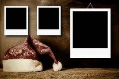 Рамки фото рождества для 3 фото Стоковые Фото