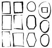 Рамки щетки Grunge Стоковое фото RF