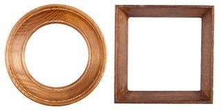 рамки 2 деревянные стоковые изображения rf