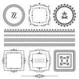 рамки borgia Орнаментальные линии Детали сохраненные в щетках иллюстрация штока