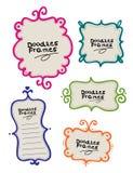 рамки doodle иллюстрация вектора