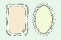 Рамки Doodle Стоковые Изображения