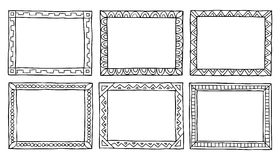 Рамки Doodle Стоковые Фото