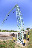 Рангоуты железнодорожным путем Стоковое Фото