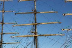 Рангоуты и такелажирование парусного судна Стоковая Фотография RF
