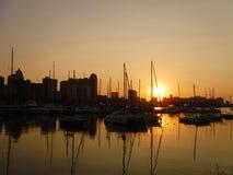 Рангоуты на восходе солнца стоковые фото