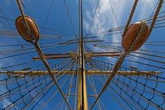 Рангоут Джеймс Craig и такелажирование, 3 masted барк, парусное судно Стоковое Изображение RF