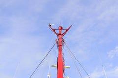 Рангоут парусника против голубого неба Стоковые Фото