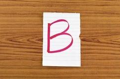 Ранг b Стоковое Изображение RF