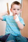Раненный в левой руке Стоковое фото RF