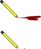 Раненые карандаши Стоковое фото RF