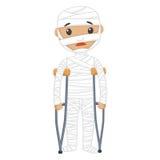 Раненый пациент с повязками иллюстрация штока