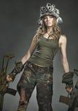 Раненый ратник женщины стоковые изображения