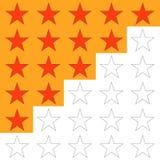 Ранжировка, звезды оценки 5, выстроить в ряд Стоковые Изображения RF