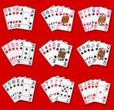 Ранжировки покера Стоковые Изображения RF