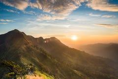 Раннее утро в горе Стоковые Изображения