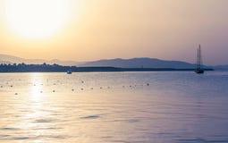 Раннее утро на море Стоковое Изображение RF