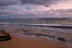 раннее утро пляжа Стоковое Изображение