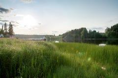 Ранний вечер на реке Стоковое Изображение RF