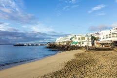 Рано утром взгляд к прогулке в Blanca Playa Стоковая Фотография