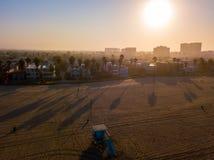 Рано утром воздушный взгляд восхода солнца Венеции Стоковая Фотография