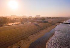 Рано утром воздушный взгляд восхода солнца Венеции Стоковые Изображения