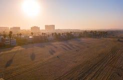 Рано утром воздушный взгляд восхода солнца Венеции Стоковое Фото
