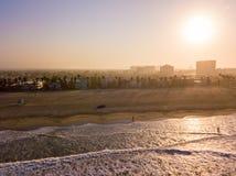Рано утром воздушный взгляд восхода солнца Венеции Стоковые Фотографии RF