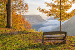 Рано утром восход солнца на парке штата Letchworth стоковые изображения rf