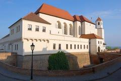 Рано утром в замке Спилберга Чешская республика brno Стоковые Изображения RF
