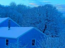 Рано утром голубой оттенок стоковое изображение rf