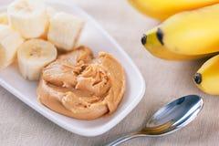 Рано утром здоровый завтрак банана Стоковое Изображение