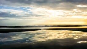 Рано утром море восхода солнца Стоковые Изображения